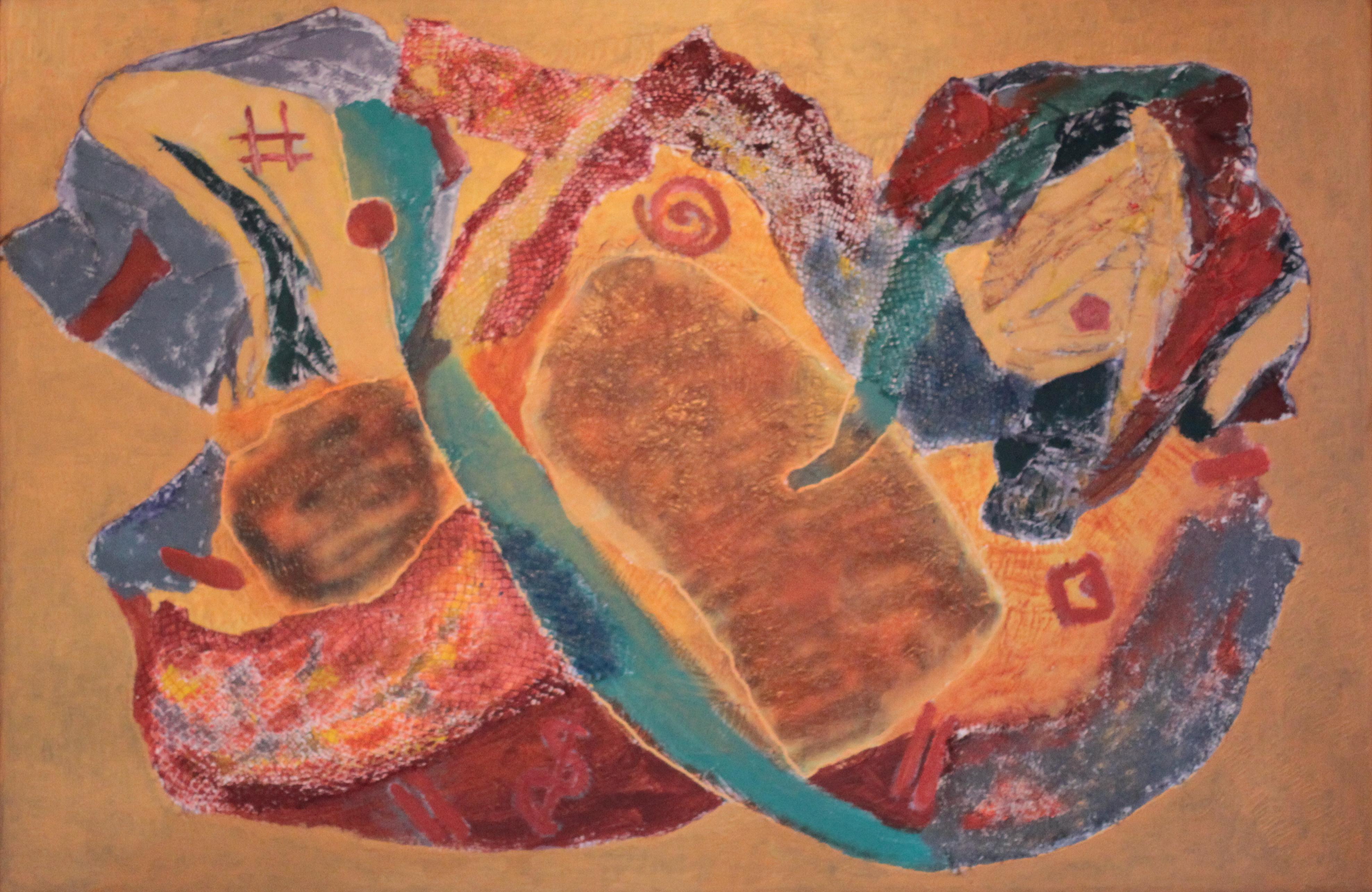 Abstract schilderij acryl