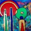 Abstract schilderij binding