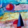 Abstract schilderij vakantie