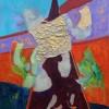 Abstract schilderij lammetje