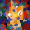 Abstract schilderij blokken