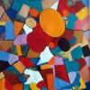 Abstract schilderij kleur